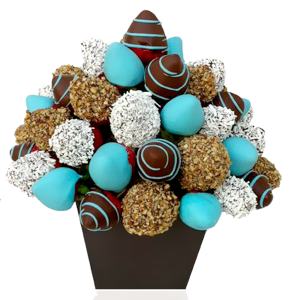 Frutas con chocolate